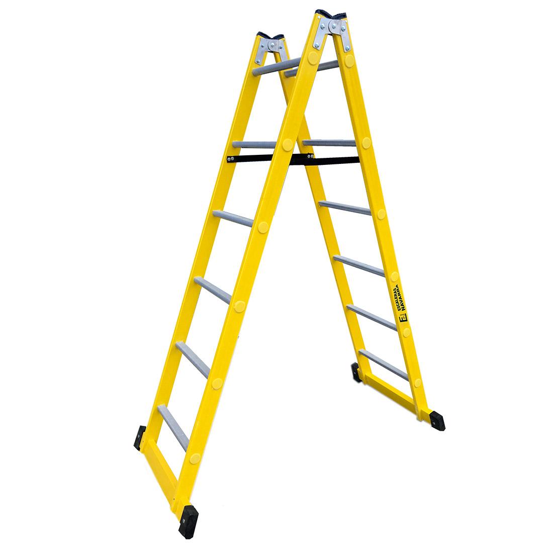 Escaleras de fibra de tijera escaleras navarra for Escaleras de trabajo